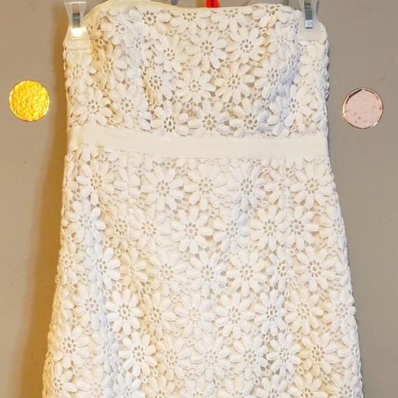 Lily Pulitzer White Strapless Dress